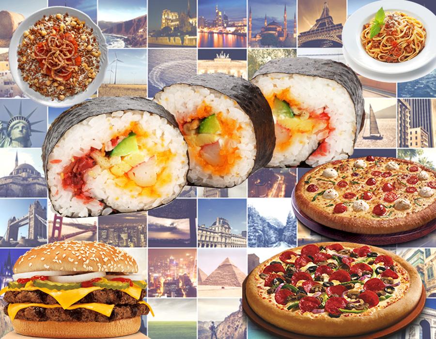 ذوقك في الأكل هيقولك تعيشي في أي بلد في العالم