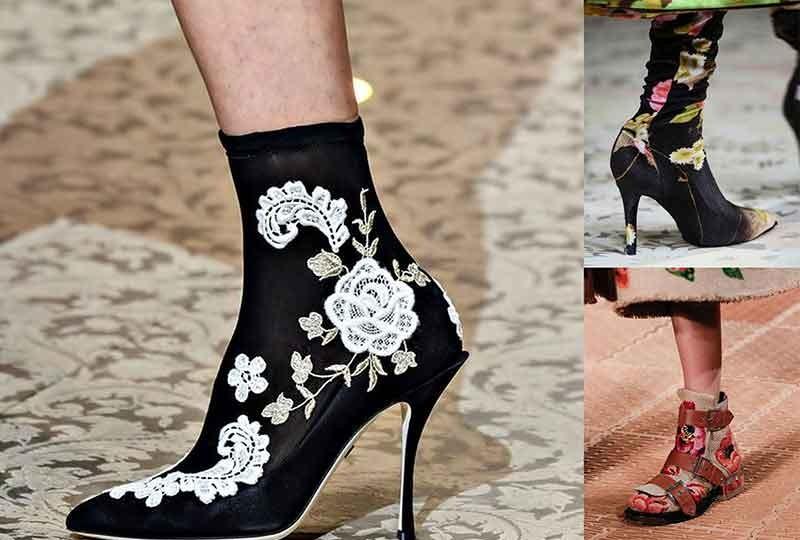 موضة أحذية شتاء 2019 الأحذية المُزينة بالورود