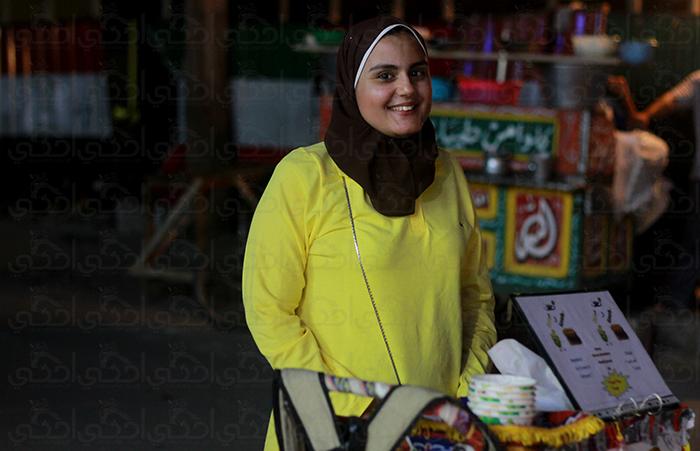 عربية كنافة ميار.مشروع صغير في الشارع
