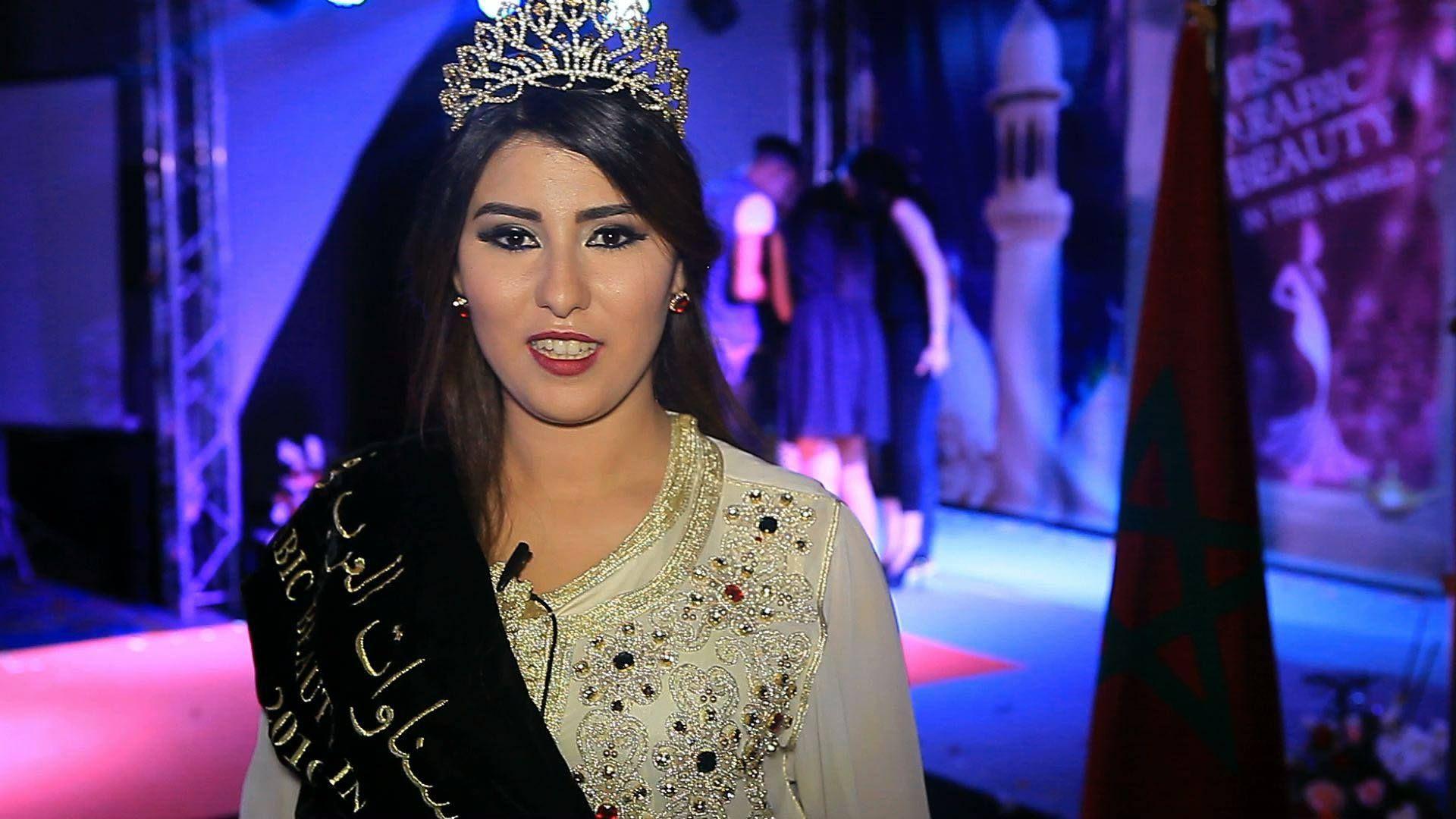 """ملكة حسنوات العرب يذهب إلى المغربية """"نجلاء العمراني"""""""