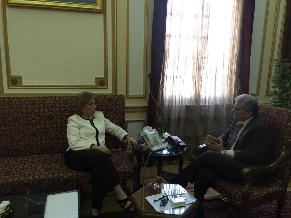 """""""التلاوي"""" تلتقي جابر نصار لإجراء دراسات نسائية معتمدة من جامعة القاهرة"""