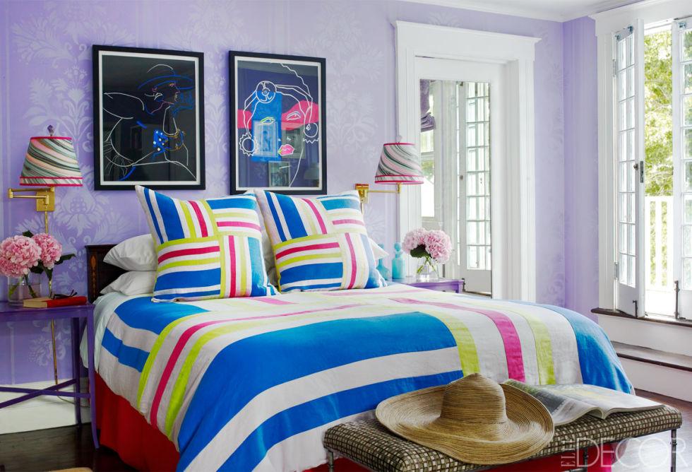 """""""الموف"""" لون من البهجة في الغرف"""