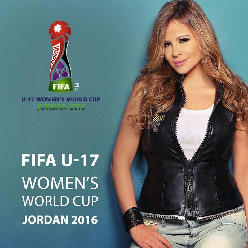"""كارول سماحة تفتتح كأس العالم للسيدات بـ """"الأردن ملعبنا"""""""