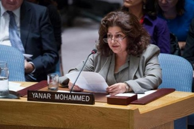 ينار محمد.. ناشطة عراقية تفوز بجائزة نرويجية لحقوق الإنسان