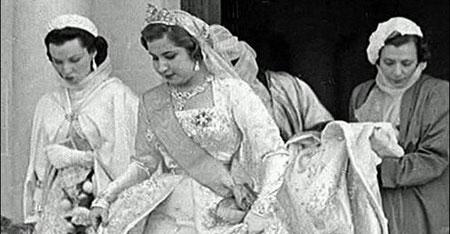 زفاف الملكة ناريمان على ملك مصر والسودان