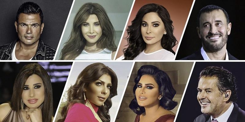 5 سيدات ضمن قائمة أقوى 10 مطربين في العالم العربي