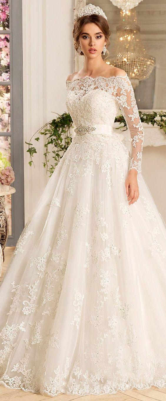 بالصور.. فساتين زفاف تجعلك تظهرين بشكل ملائكي جذاب