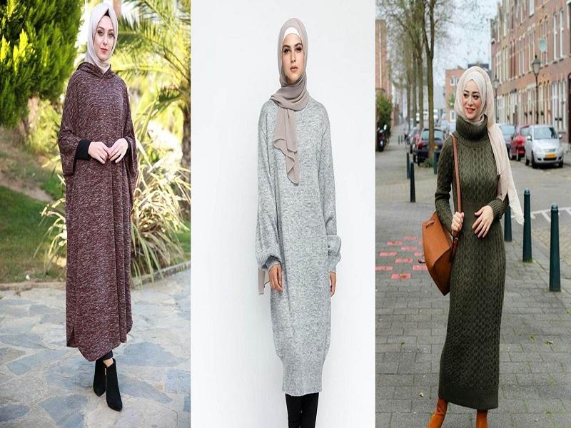 موضة الفستان الصوف للمحجبات