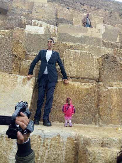 أقصر امرأة في العالم تزور مصر للسياحة