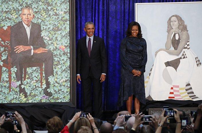 """لوحات """"أوباما وزوجته"""" بمعرض الصور الوطني الأمريكي"""