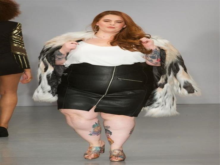 عارضة ذات وزن زائد في أسبوع نيويورك للموضة