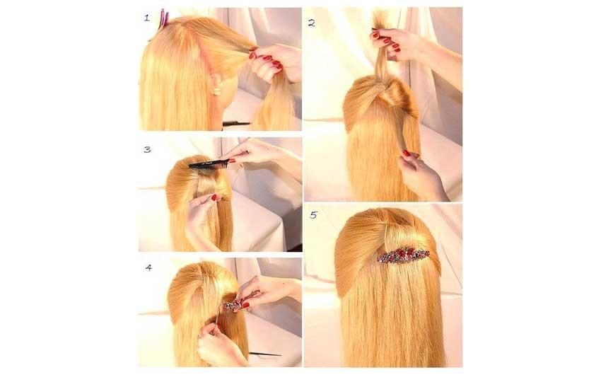 تسريحة الشعر المفرود للمناسبات