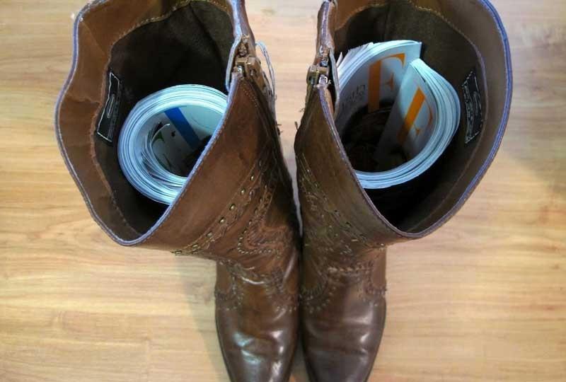 تخزين أحذية البوت بطريقة صحيحة