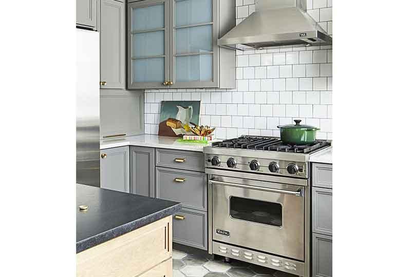 تصميم مطبخ بلون رمادي