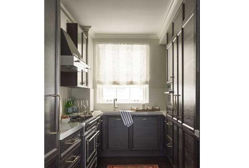 تصميم مطبخ بجدارين متقايلين