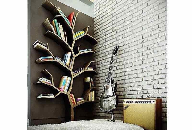 مكتبات حائط على شكل شجرة