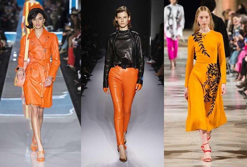موضة ألوان شتاء 2019 البرتقالي