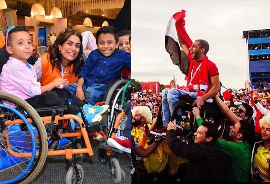 مي زين والدة المصري المُحلق التي تٌغير حياة ذوي القدرات الخاصة