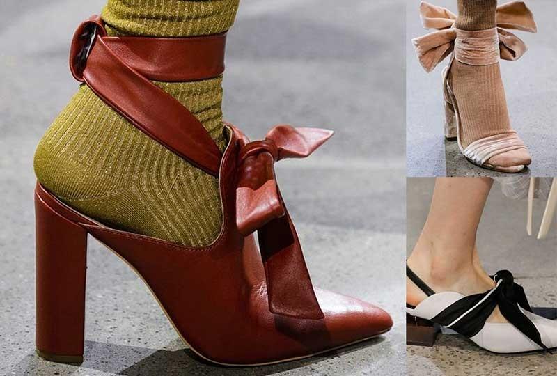 موضة أحذية شتاء 2019  الأحذية المُزينة بالفيونكات