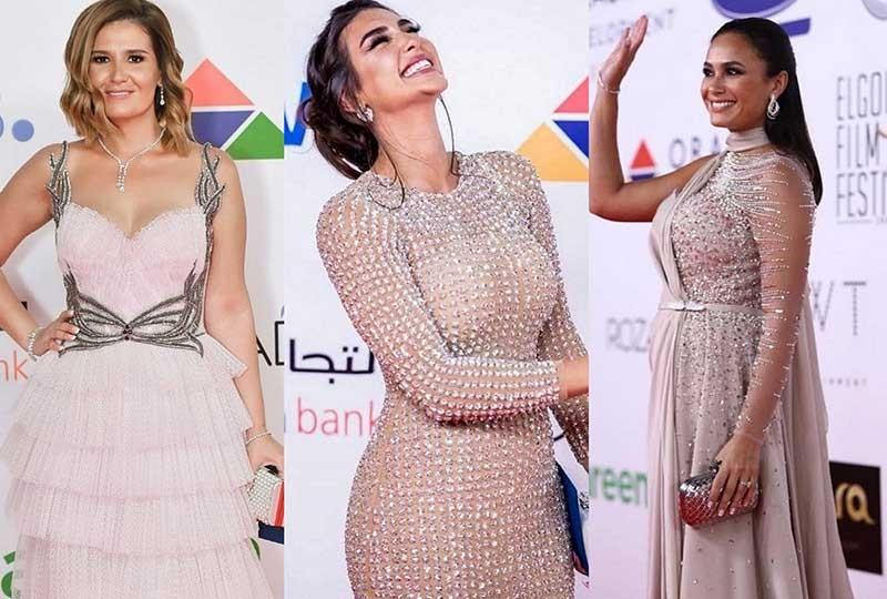 حفل ختام مهرجان الجونة 2018ب بألوان النيود