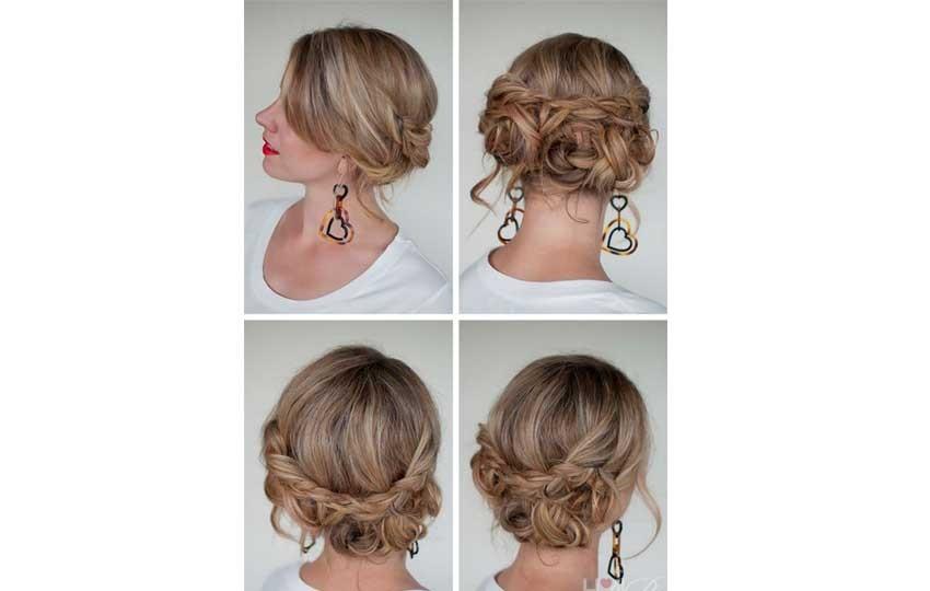 تسريحة الشعر الخلفية للمناسبات