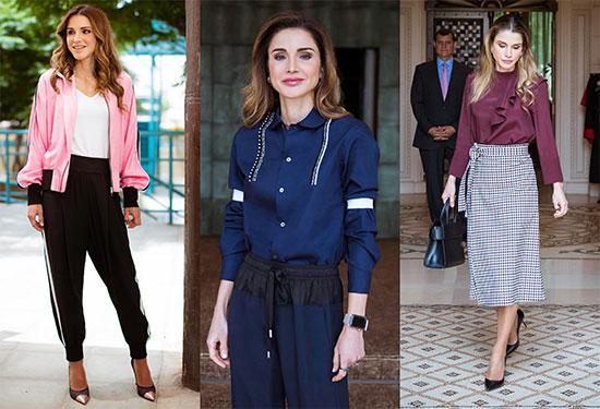 إطلالات الملكة رانيا لتحصلي على لوك ملكي مميز