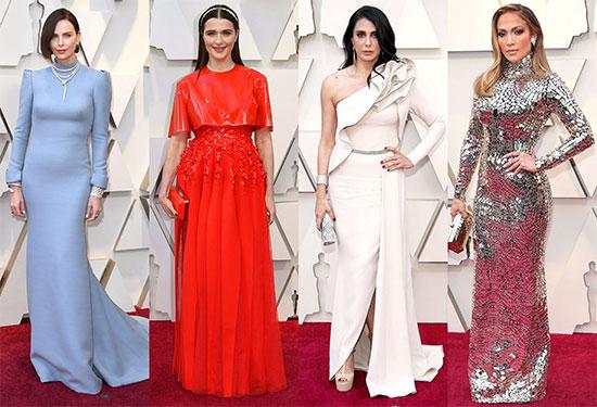 شاهدي بالصور أجمل فساتين النجمات في حفل الأوسكار 2019
