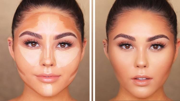 طريقة وضع الكونتور حسب شكل الوجه