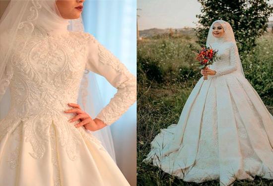 فساتين زفاف محجبات لتتألقي في حفل زفافك