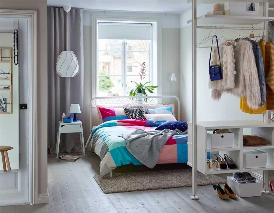 أفكار للمساحات الصغيرة في غرف النوم