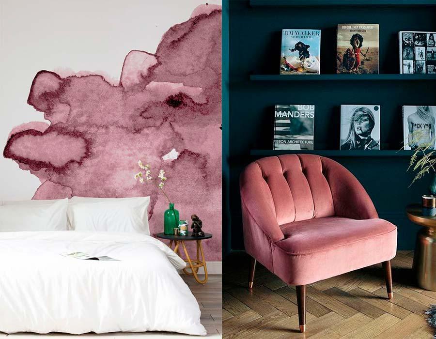 ألوان الكشمير المختلفة في الديكورات والحوائط والغرف