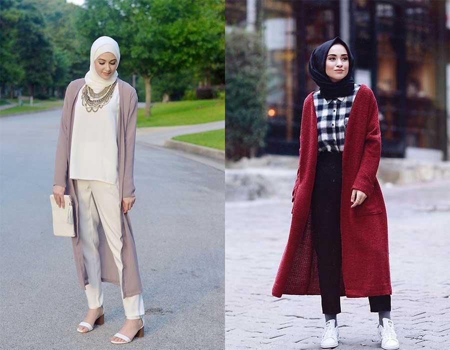 ارتدي الكارديجان الطويل بهذه الطرق لتُظهري أناقة حجابك