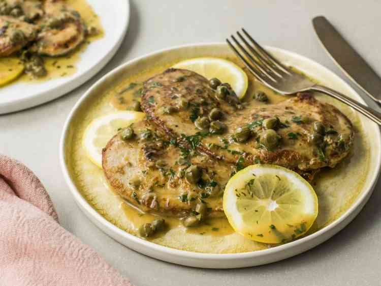 بيكاتا بالمشروم بوصفات اللحم والدجاج الشهية