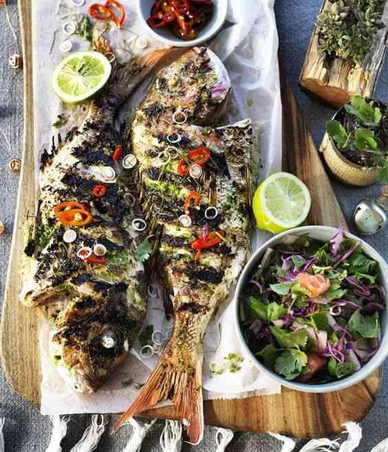 طريقة عمل السمك المشوي الشهي بأكثر من وصفة
