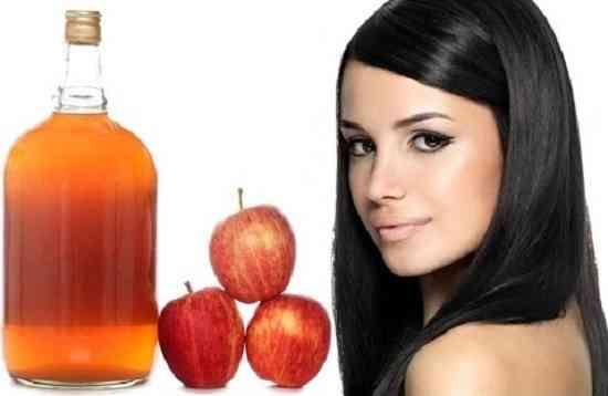 فوائد خل التفاح للشعر وفروة الرأس