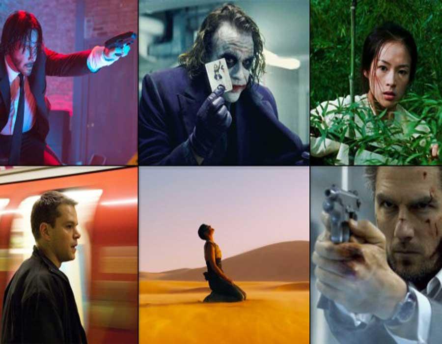 قائمة أفلام أكشن من بين الأكثر شعبية في العالم