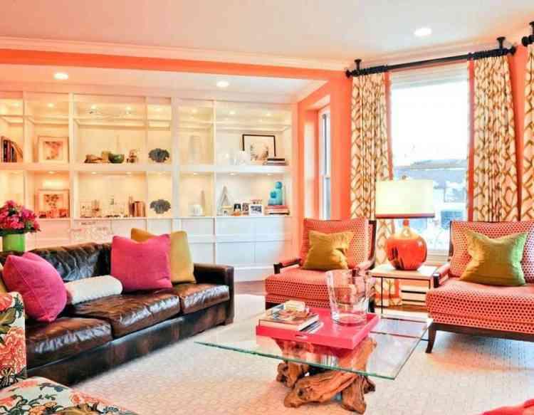 كيفية تنسيق درجات اللون السيمون في ديكور منزلك