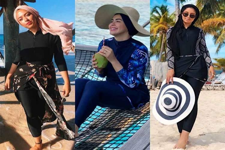 مايوهات محجبات لأناقتك على الشاطئ في الصيف