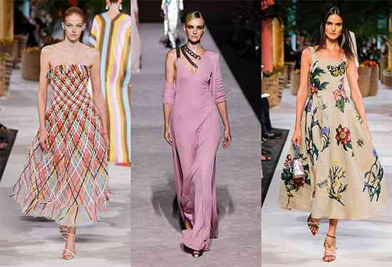 موضة فساتين 2020 تصاميم أنثوية وألوان غير تقليدية