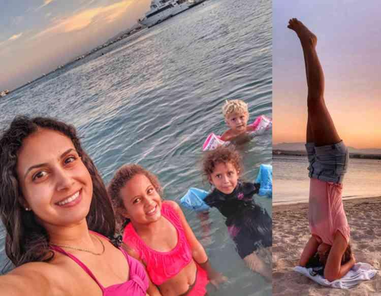 ياسمين طارق أم مستقلة تدعم النساء بالرياضة المنزلية
