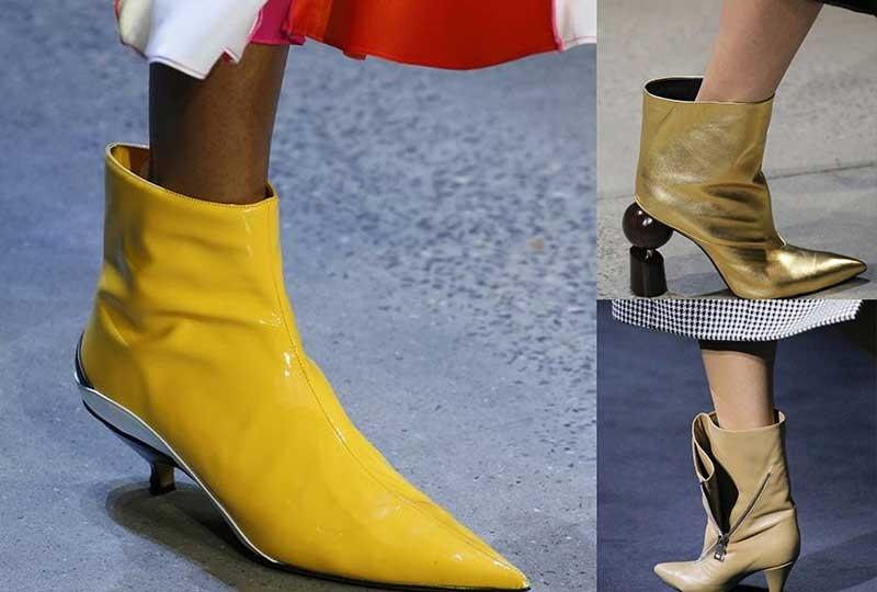 موضة أحذية شتاء 2019 أحذية واسعة متوسطة الساق