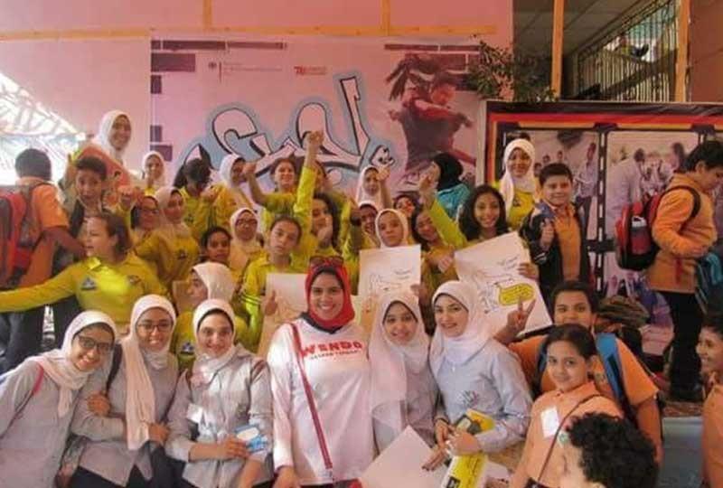 اماني عبد العال تدرب ويندو للفتيات لمواجهة التحرش
