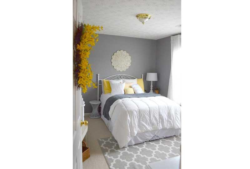 ألوان غرف نوم باللون الفضي