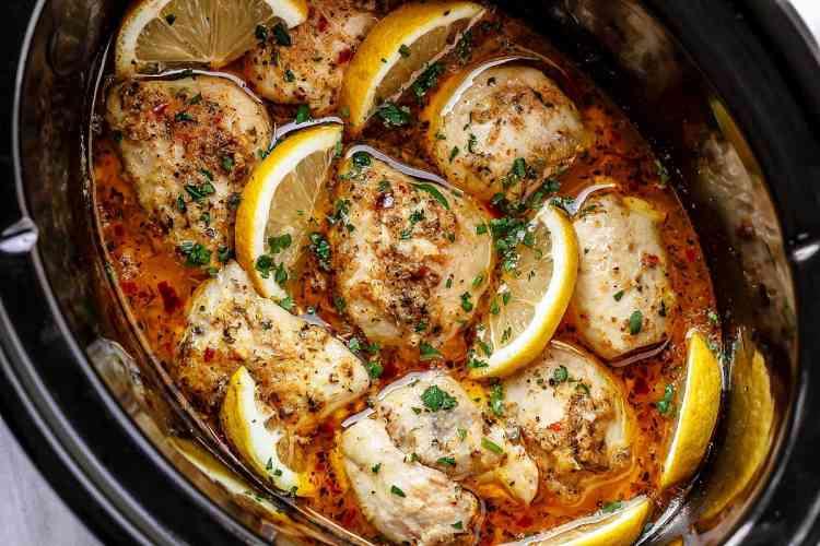 أكلات دايت طريقة عمل الدجاج بالليمون والثوم في الفرن