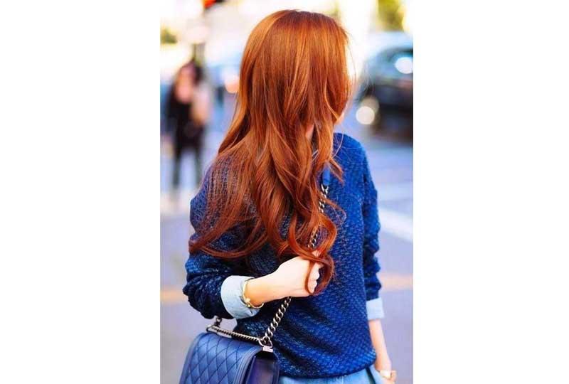 ألوان صبغات الشعر اللون البرتقالي الداكن