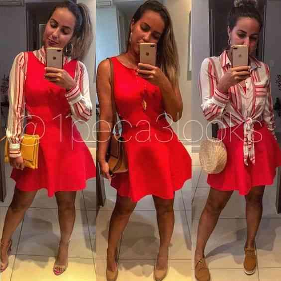 ملابس العيد فستان أحمر