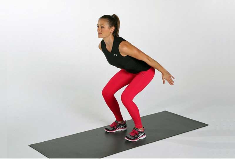 تمارين رياضية لشد الأرداف الـ Jumping Squat