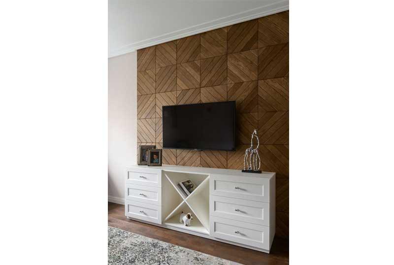 ديكورات حوائط خشبية