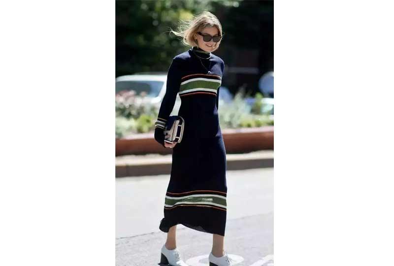 ملابس شتوية فستان صوف