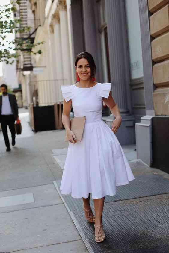 موضة صيف 2020 فستان أبيض منفوش